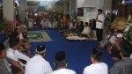 tampak Sekda Drs Farid Asimin MAP saat membawakan sambutan dalam memperingati 2 tahun pemerintahan dibawah kepemimpinan Bupati H Salihi Mokodongan dan Wabup Yanny R Tuuk STh MM